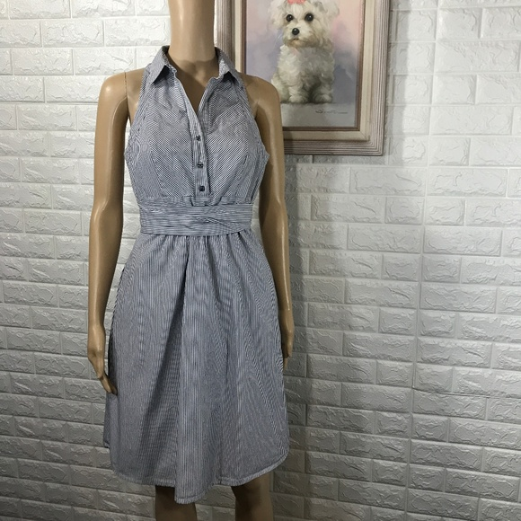 a6501ffdda5 Anthropologie Maeve Blue and White Striped Dress 6